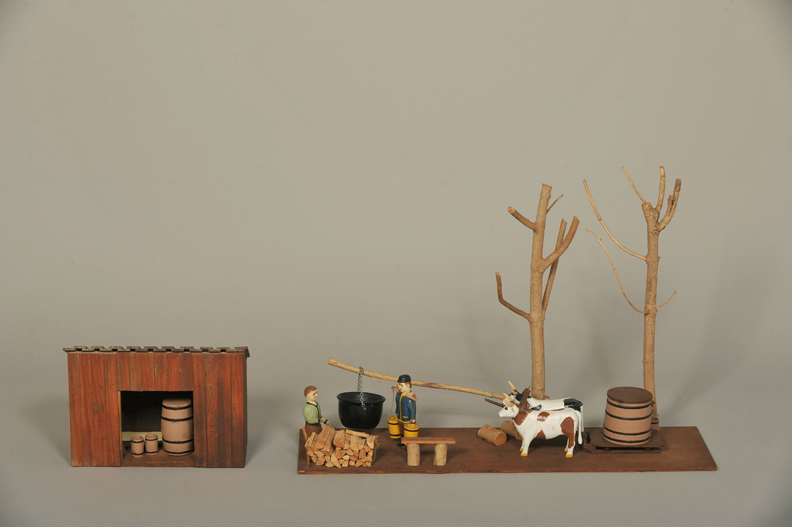 Maple sugaring diorama