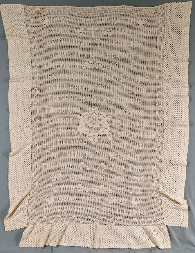 Lord's prayer bed spread